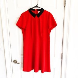 Beautiful red dress with black collar